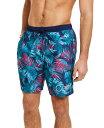 ショッピングハワイアン カルバンクライン メンズ ハーフパンツ・ショーツ 水着 Men's Hawaiian Quick-Dry UV 50+ Tropical-Print 7 Swim Trunks Rosebud