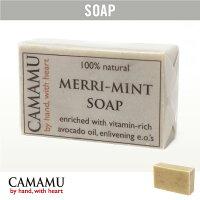 CAMAMU SOAP(カマムソープ)/ メリミントソープ【 Merri Mint Soap 保湿 石けん 泡 せっけん 石鹸 顔・体用 コールドプロセス】