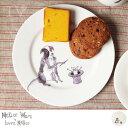 Mellor Ware(メラーウェア)/ サイドプレート ドッグス コリーマジシャン【食器 テーブルウエア キッチン雑貨 ボーンチャイナ 磁器 ギフト プレゼント 贈り物】【_TS】