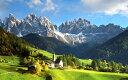 絵画風 壁紙ポスター (はがせるシール式) アルプスの景色 東アルプス山脈 イタリア キャラクロ ALPS-007W2 (ワイド版 603mm×376mm) 建築用壁紙+耐候性塗料 インテリア