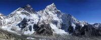 絵画風 壁紙ポスター (はがせるシール式) エベレスト ヒマラヤ山脈 チョモランマ 世界最高峰 キャラクロ EVT-102P1 (パノラマ版 1440mm×576mm) 建築用壁紙+耐候性塗料 インテリア