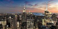 絵画風 壁紙ポスター (はがせるシール式) ニューヨーク マンハッタン パノラマ夜景 エンパイヤーステートビル USA キャラクロ NYK-002S1 (1152mm×576mm) 建築用壁紙+耐候性塗料 インテリア
