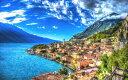 絵画風 壁紙ポスター (はがせるシール式) ソレントの景色 海と空と雲 アマルフィ海岸 イタリア キャラクロ AMLF-004W2 (ワイド版 60..