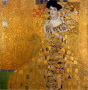 絵画風 壁紙ポスター (はがせるシール式) グスタフ・クリムト アデーレ・ブロッホ=バウアーの肖像 I 1907年 ノイエ・ガレリエ キャラクロ K-KLT-002S1 (594mm×600mm) 建築用壁紙+耐候性塗料 インテリア