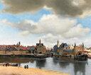 絵画風 壁紙ポスター (はがせるシール式) ヨハネス・フェルメール デルフトの眺望 1660-61年頃 マウリッツハイス美術館 キャラクロ K..