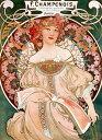 絵画風 壁紙ポスター (はがせるシール式) アルフォンス・ミュシャ 夢想 1897年 リトグラフ アールヌーヴォー キャラクロ K-MCH-015S2 (433mm×594mm) 建築用壁紙+耐候性塗料 インテリア
