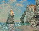 絵画風 壁紙ポスター(はがせるシール式) クロード・モネ エトルタの断崖 1885年 スターリング・アンド・フランシーヌ・クラーク美術館 キャラクロ K-MON-073S1 (725mm×585mm) 建築用壁紙+耐候性塗料 インテリア