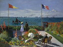 絵画風 壁紙ポスター(はがせるシール式) クロード・モネ サンタドレスのテラス (海辺のテラス) 1866-67年 メトロポリタン美術館 キャラクロ K-MON-076S1 (782mm×585mm) 建築用壁紙+耐候性塗料 インテリア