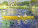 絵画風 壁紙ポスター(はがせるシール式) ピエール=オーギュスト・ルノワール セーヌ川での舟遊び 1875年 ナショナル・ギャラリー (ロン...
