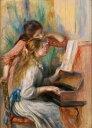 絵画風 壁紙ポスター(はがせるシール式) ピエール=オーギュスト・ルノワール ピアノを弾く少女たち 1892年 オランジュリー美術館 キャラクロ K-RNR-029S2 (429mm×594mm) 建築用壁紙+耐候性塗料 インテリア