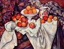 絵画風 壁紙ポスター(はがせるシール式) ポール・セザンヌ リンゴとオレンジのある静物 1895-1900年 オルセー美術館 キャラクロ K-CZ..