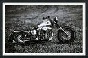 絵画風 壁紙ポスター (はがせるシール式) ハーレー ダビッドソン FXS ローライダー カスタム ショベルヘッド 1970年代 バイク 【額縁印刷/トリックアート】 キャラクロ HDFX-001SGF2 (603mm×402mm) 建築用壁紙+耐候性塗料 インテリア