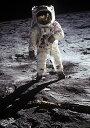 絵画風 壁紙ポスター (はがせるシール式) 月面着陸 アポロ11号 1969年 NASA キャラクロ NAS-009A2 (A2版 420mm×594mm)