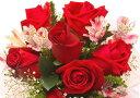 絵画風 壁紙ポスター (はがせるシール式) 赤いバラ ブーケ 薔薇 ハイブリッド・ティー モダンローズ 花 キャラクロ FROS-018A2 (A2版 594mm×420mm) 建築用壁紙+耐候性塗料 インテリア