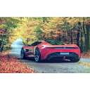 絵画風 壁紙ポスター (はがせるシール式) アストンマーティン DBC Concept レッド 2013年 コンセプトカー キャラクロ ADBC-003W1 (ワイド版 921mm×576mm)