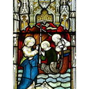 絵画風 壁紙ポスター (はがせるシール式) ステンドグラス 教会の窓 教会堂 西洋館 装飾 キリスト教 キャラクロ WSDG-007A1 (A1版 585mm×830mm)
