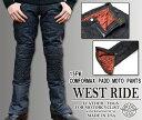 【WEST RIDE/ウエストライド】15FW COMFORMAX PADD MOTO PANTS:インディゴ★REAL DEAL