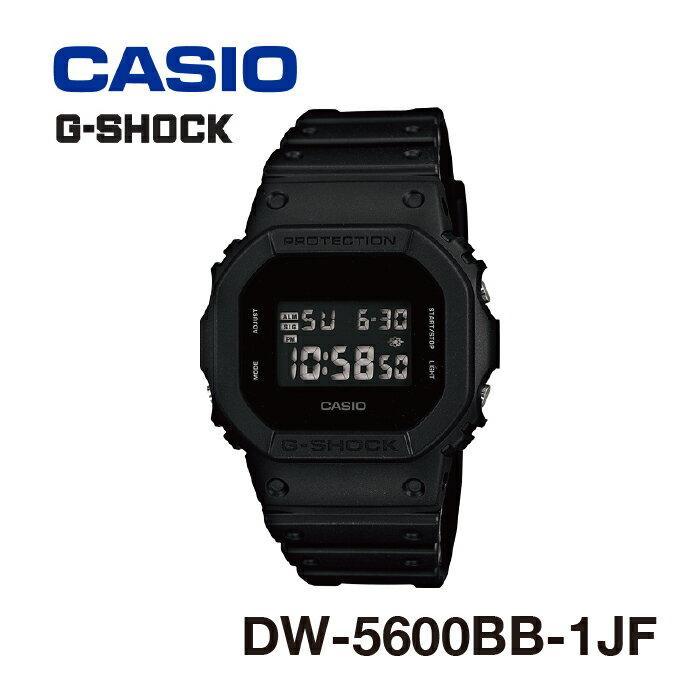 腕時計 防水 G-SHOCK ジーショック DW-5600BB-1JF Solid Colors(ソリッドカラーズ):マッドブラック ユニセックス メンズ レディース CASIO カシオ [gs]