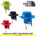 ノースフェイス キッズ 子供用 帽子 Kids' Sunshield Hat NNJ01701 サンシールドハット 遠足・通園 THE NORTH FACE 【17ss】