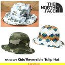 ノースフェイス キッズ 子供用 帽子 Kids'Reversible Tulip Hat リバーシブルチューリップハット NNJ01609 カラー3色 遠足・通園 THE N..
