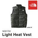 ノースフェイス メンズ ダウンベスト ライトヒートベスト Light Heat Vest ND91702 THE NORTH FACE [11117fw][66702]