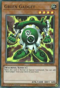 遊戯王 FIGA-EN006 グリーン・ガジェット Green Gadget (英語版 1st Edition スーパーレア) Fists of the Gadgets