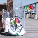 ショッピングビーチバッグ トートバッグ fruit of the loom クリアトート 透明 ビニールバッグ ビーチバッグ クリアバッグ カバン 鞄 夏用バッグ プールバッグ フルーツオブザルーム レジャー 海水浴