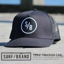 メッシュキャップ SURF/BRAND サーフブランド TEAM TRUCKER CAP