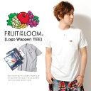 メンズTシャツ ロゴワッペン Tシャツ パックT 無地Tシャツ FRUIT OF THE LOOM フルーツオブザルーム Sサイズ XLサイズ コットン100%