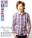 マドラスチェックシャツ メンズチェックシャツ ブロードチェックシャツ コットン ブロード ギンガム チェック マドラス