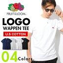 Tシャツ ロゴ ワッペン メンズ 無地Tシャツ FRUIT OF THE LOOM 半袖 フルーツオブザルーム Sサイズ XLサイズ シンプル ワンポイント 無地T 綿 コットン ロゴT