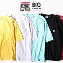 VISION STREET WEAR ビッグTシャツ ビジョンストリートウェア USAコットン 胸ポケット 半袖 Tシャツ ss
