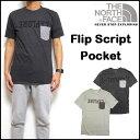ノースフェイス THE NORTH FACE Tシャツ メンズ FLIP SCRIPT TRI-BLEND TEE ポケット