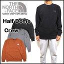 ノースフェイス メンズ トレーナー THE NORTH FACE スウェット Half Dome Crew 黒 裏起毛 17新作