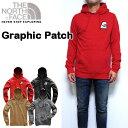 ノースフェイス パーカー メンズ THE NORTH FACE GRAPHIC PATCH HOODIE スウェット 18新作 ワッペン 裏起毛 S M L XL 黒 赤 グレー