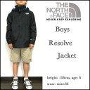 THE NORTH FACE/ザ・ノースフェイス/キッズ/マウンテンパーカー/リゾルブ ジャケット/ジュニア/子供/BOYS RESOLVE JACKET/ブラック/ウィンドブレーカー/レインウェアー