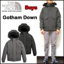 ノースフェイス キッズ ダウンジャケット 男の子 BOYS GOTHAM DOWN 17新作 120cm-170cm 黒 グレー