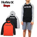 HURLEY ハーレー キッズ Tシャツ 長袖 BOYS DRI-FIT FLOW PULLOVER ボーイズ パーカー