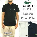 LACOSTE/ラコステ/ポロシャツ/メンズ/スリムフィット/PH1211/ Mens Slim Fit Pique Polo/ビズポロ/クールビズ/クールビズ