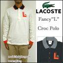 "LACOSTE/ラコステ/ポロシャツ/メンズ/長袖/PH1059/Mens Semi Fancy ""L"" Croc Pique Polo/アップリケ ポロ/トリコロール/ビズポロ 05P03Dec16"