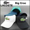 LACOSTE/ラコステ/帽子/メンズ/キャップ/ビッグロゴ/RK8217/Mens Big Croc Gabardine Cap/Dad 05P03Dec16