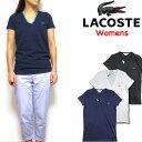ラコステ LACOSTE レディース Tシャツ Vネック Womens V-Neck T-shirt TF7880 TF8908