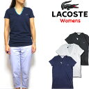 ラコステ レディース Tシャツ LACOSTE Vネック Womens V-Neck T-shirt TF7880 TF8908 XS S M L