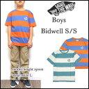 VANS/バンズ/キッズ/Tシャツ/BOYS BIDWELL TEE/ジュニア/ティーシャツ/ボーダー/半袖 05P03Dec16
