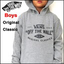 VANS バンズ パーカー キッズ スウェット BOYS ORIGINAL CLASSIC PULL OVER HOOD
