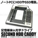 【メール便対応可能】 スリムドライブ用 SSD HDD マウンタ SATA 接続 記憶媒体in光学ドライブ 換装 増設