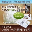 ペット 犬 猫 メモリアル フォトシール 楕円 4寸