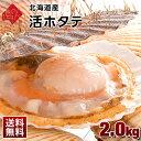 お中元 北海道産 活ホタテ【送料無料】 2.0kg(9〜12枚前後入) 未冷凍 生食OK!是非お