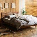 ベッド NOANA-BROWN スタンダード セミダブルサイズ フレームのみ 寝具 木製 北欧 無垢材 ブラウン 送料無料