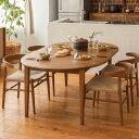 RoomClip商品情報 - ダイニング テーブル ダイニングテーブル 伸長式 伸縮式 folk ブラウン 幅110 幅170 北欧 ヴィンテージ おしゃれ 送料無料 即日出荷可能